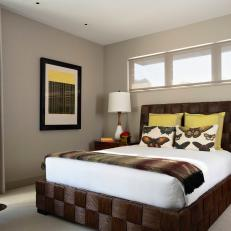 Contemporary Bedroom With Basketweave Bed