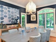 Make a statement in your dining room with an eye-catching light fixture. Designers share their top tips for finding the proper type and size for your space.