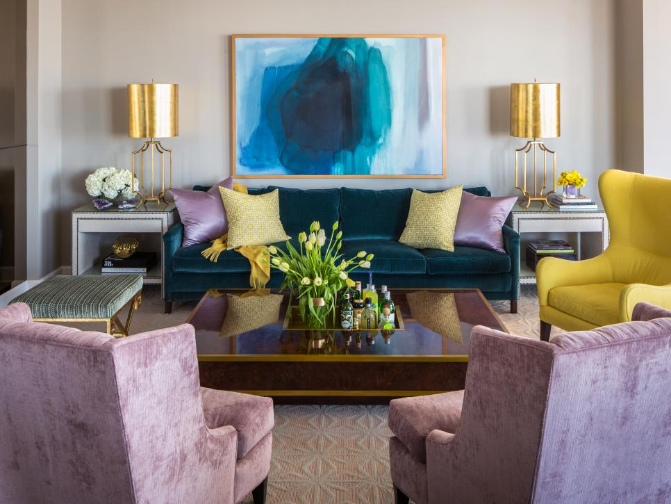15 designer tricks for picking a perfect color palette hgtv - Interior Decorating Living Rooms