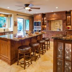 Elegant Craftsman Kitchen With Beautiful Wood Cabinetry