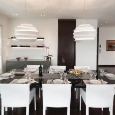 Black and White Modern Dining Room