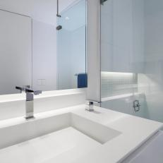 Modern All-White Bathroom