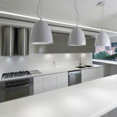 Modern Kitchen With Under-Cabinet Lights