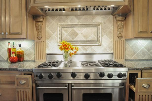 Neutral Kitchen With Stainless Steel Oven
