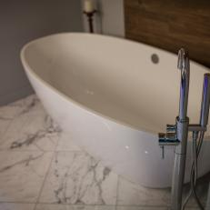 Modern Faucet Adds Industrial Touch to Modern Bathroom