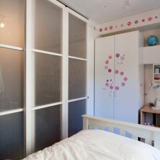 Small Girl's Bedroom With Large Wardrobe