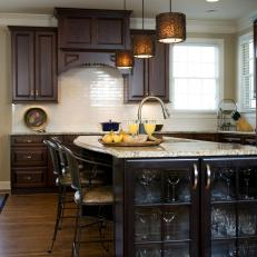Transitional Kitchen Island With Built-In Cabinet