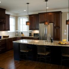 Transitional Eat-in Kitchen With Spacious Island