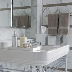 Sleek Bathroom With Smart Storage