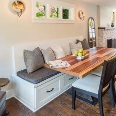 Elegant yet Simple Breakfast Area With Banquette