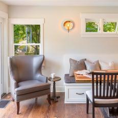 Cozy Cottage Breakfast Area With Banquette Seating