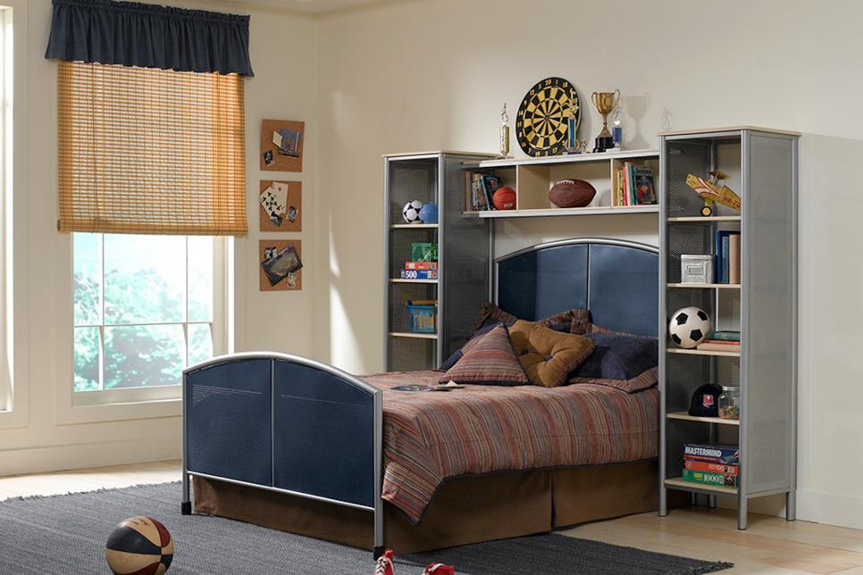 Bedroom Wall Storage. Photo By  Hillsdale Furniture 15 Smart Wall Storage Ideas HGTV