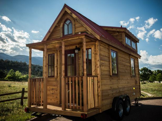 Tiny House With Petite Front Porch