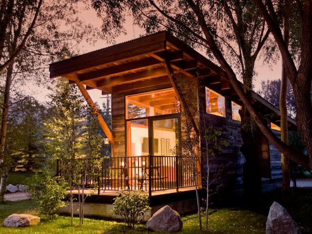 Rustic-Meets-Modern Tiny Home Exterior