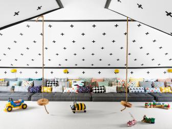 Black and White Playroom Designed to Encourage Joyful Play