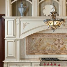 Marble Tile Forms Decorative Backsplash
