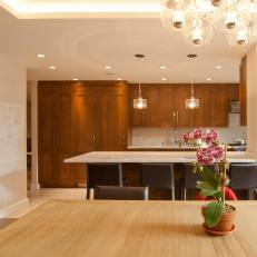 Contemporary Kitchen With Dining Peninsula