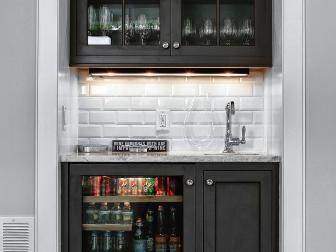 Closet Wet Bar With Custom Cabinetry