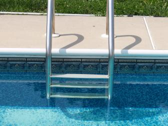 Pool Ladder in In-Ground Pool