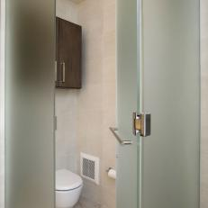 Water Closet in Contemporary Bathroom