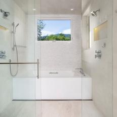 Wet Room With Shower and Soaking Tub