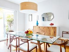 Inviting Dining Room Features Danish Modern Furniture and Bright, Natural Light