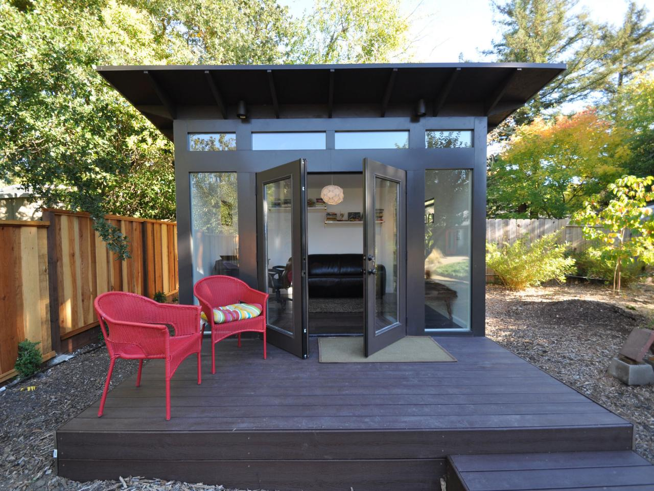 Give your backyard an upgrade with these outdoor sheds for Outside office shed