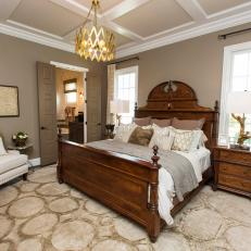Traditional Meets Contemporary in Master Bedroom