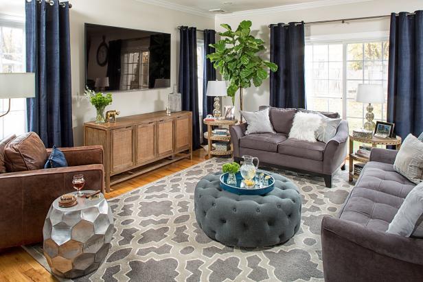 Transitional Living Room Features Tasteful Design | HGTV