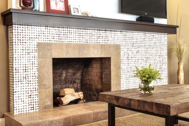 Contemporary Neutral Fireplace Surround