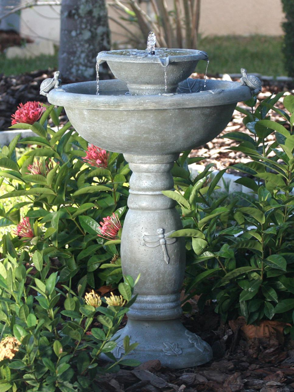 Solar-Powered Garden Fountain