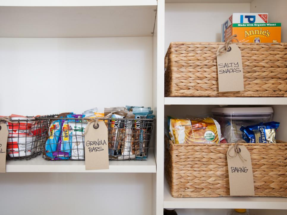 organise your pantry with cheap storage bins