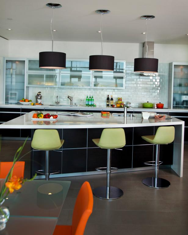 Contemporary, Urban Kitchen With Island