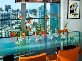 Urban Dining Room With Views of San Diego