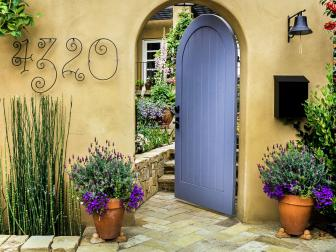 Arched Doorway to Mediterranean-Inspired Home