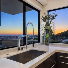 Kitchen Sink With Sweeping View