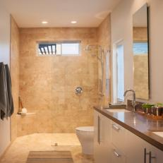Tranquil Contemporary Bathroom With Walk-In Shower