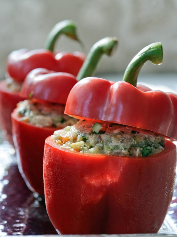 Holland Peppers Stuffed With Creole Fried Rice