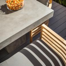 Outdoor Seating With Concrete Tabletop