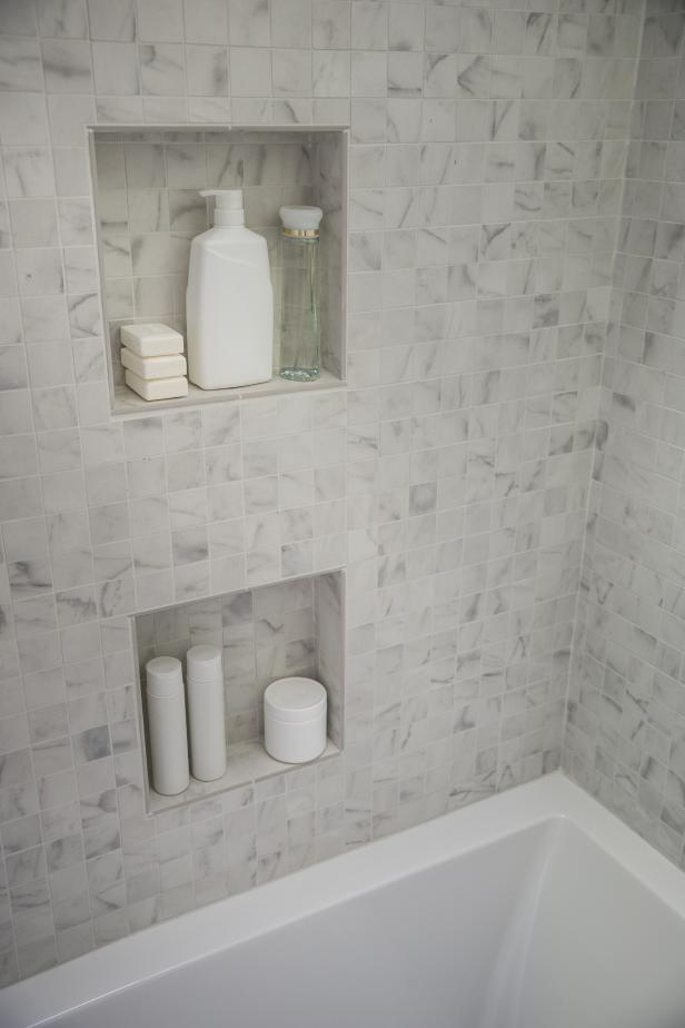 Inset Shower Shelves Hgtv