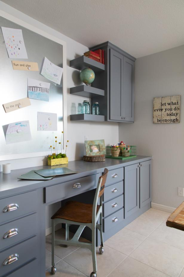 Craft Room With Cabinet Space
