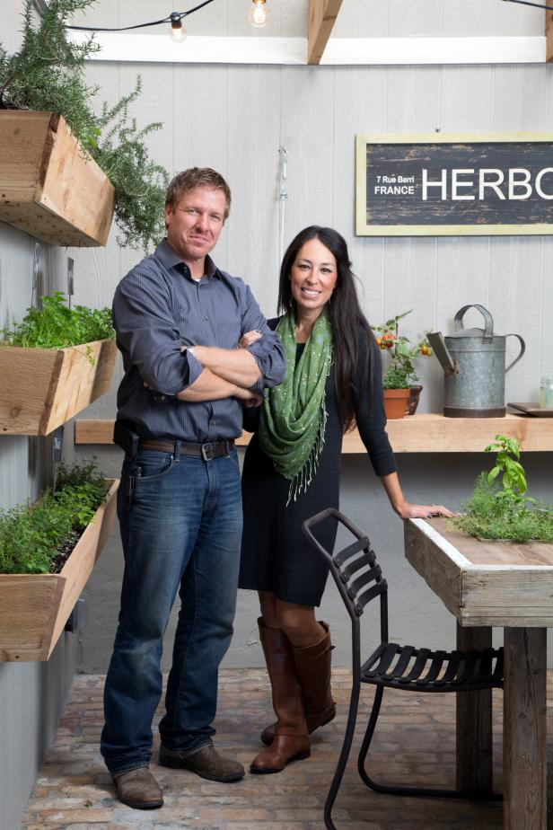 Chip and Joanna Gaines in Greenhouse