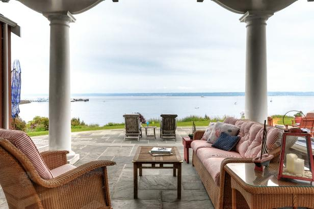Large Covered Patio with Puget Sound View