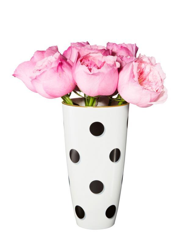 Black And White Polka Dot Vase Vase And Cellar Image Avorcor