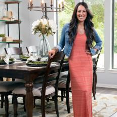 Joanna Gaines in Newly Renovated Room