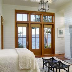 Cottage Bedroom With Waterfront View