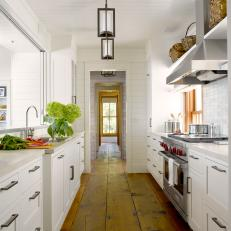 Charming Cottage Galley Kitchen