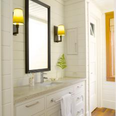 Cottage-Style Bathroom With Single Vanity