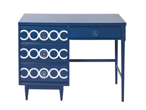 blue desk makeover