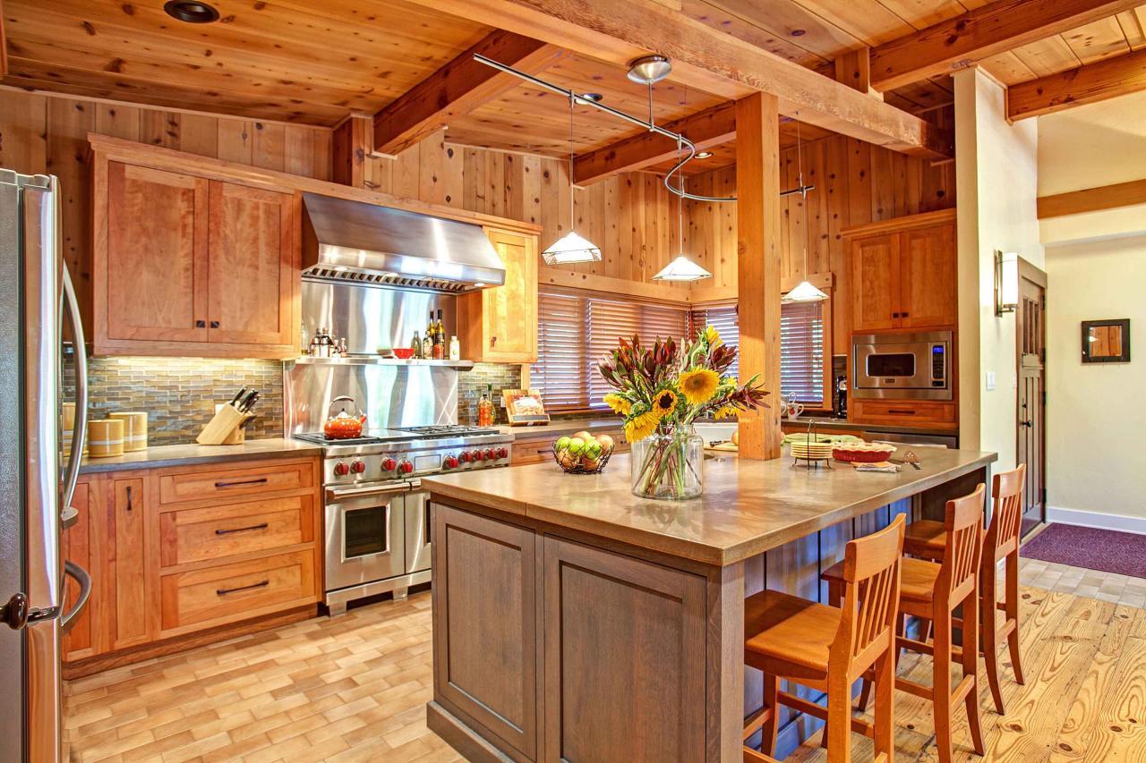 captivating home interior design kitchen | Captivating Cedar Kitchen Features Eat-In Island | HGTV